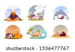 natural disasters. collection... | Shutterstock .eps vector #1536477767