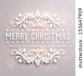 Постер, плакат: Christmas typographic label for