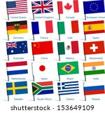 pin flags popular | Shutterstock .eps vector #153649109