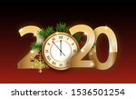 2020 numbers new year poster... | Shutterstock .eps vector #1536501254