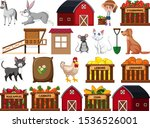 large set of isolated farm... | Shutterstock .eps vector #1536526001