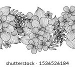 elegant seamless pattern with... | Shutterstock .eps vector #1536526184