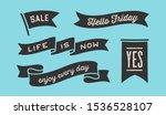 ribbon banner. set of black... | Shutterstock . vector #1536528107