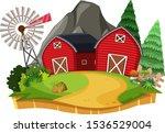 nature landscape of farmland... | Shutterstock .eps vector #1536529004