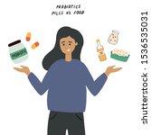 young woman choosing between... | Shutterstock .eps vector #1536535031