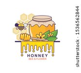 honney vector illustration with ... | Shutterstock .eps vector #1536562844