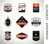 Vector set with seals, stamps, labels or badges | Shutterstock vector #153656795