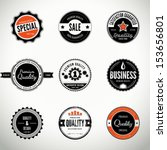 vector set with round seals ... | Shutterstock .eps vector #153656801