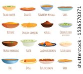 indian cuisine icons set.... | Shutterstock .eps vector #1536570371