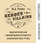 font heroes   villains. craft... | Shutterstock .eps vector #1536572501