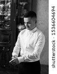 grooms morning preparation ... | Shutterstock . vector #1536604694