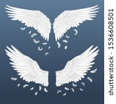 realistic wings. white isolated ...   Shutterstock .eps vector #1536608501