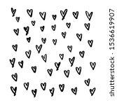 vector heart shape frame with... | Shutterstock .eps vector #1536619907