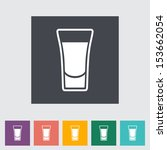shot drink. single flat icon.... | Shutterstock .eps vector #153662054