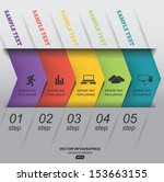 paper infographics step by step ... | Shutterstock .eps vector #153663155