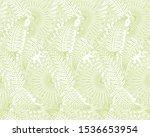 fern  palm leaves seamless...   Shutterstock .eps vector #1536653954