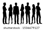Vector Silhouettes Of  Men And...