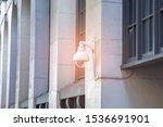 cctv camera. security camera on ... | Shutterstock . vector #1536691901