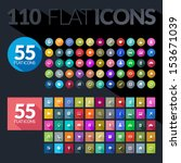 set of flat icons for mobile... | Shutterstock .eps vector #153671039