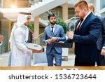 business meeting of sheikhs and ... | Shutterstock . vector #1536723644