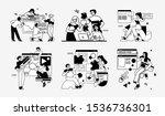 workflow management business... | Shutterstock .eps vector #1536736301