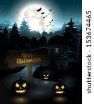 halloween poster | Shutterstock .eps vector #153674465