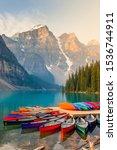 Moraine Lake Alberta Banff...