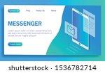 messenger landing page. vector...