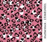 Animal Print  Heart Leopard...