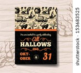 Halloween Invitation. Vintage...
