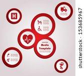 vector template with medic... | Shutterstock .eps vector #153685967