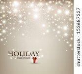 elegant christmas background... | Shutterstock .eps vector #153687227