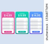 colorful simple pricing table...