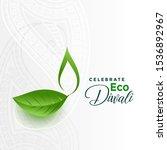 happy green eco diwali concept... | Shutterstock .eps vector #1536892967