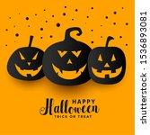 yellow happy halloween festival ... | Shutterstock .eps vector #1536893081