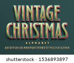 vector christmas alphabet in... | Shutterstock .eps vector #1536893897