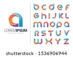 Set Of Alphabet Logo Icons...