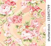 rose bouquet design seamless... | Shutterstock . vector #153691799
