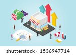 small business growth... | Shutterstock .eps vector #1536947714