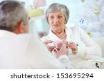 portrait of mature woman...   Shutterstock . vector #153695294