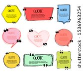 hand made speech bubble. quote... | Shutterstock .eps vector #1536963254