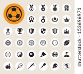 sports icons set.illustration... | Shutterstock .eps vector #153696971