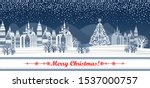 merry christmas greeting card.... | Shutterstock .eps vector #1537000757
