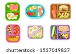 lunchbox containers set with... | Shutterstock .eps vector #1537019837