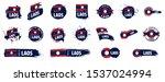 laos flag  vector illustration... | Shutterstock .eps vector #1537024994
