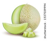 Melon. Whole Fresh Ripe Sweet...