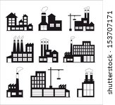 industry icons over white... | Shutterstock .eps vector #153707171