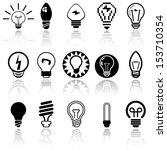 light bulbs vector icons set.... | Shutterstock .eps vector #153710354