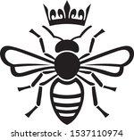bee queen with crown vector... | Shutterstock .eps vector #1537110974