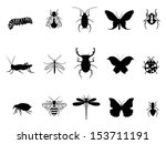 insects icon set | Shutterstock .eps vector #153711191